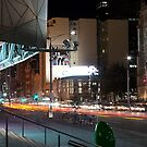 Melbourne street at night  by DavidsArt