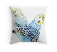Blue Boys Throw Pillow