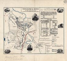 Civil War Maps 1853 Topographical sketch of the battle field of Stone River Dec 31 1862 by wetdryvac