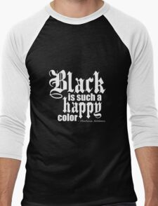 All Black Everything - White Font Men's Baseball ¾ T-Shirt