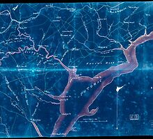 Civil War Maps 2030 Map of part of Fairfax and Prince William Counties Virginia Inverted by wetdryvac