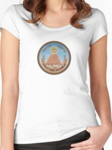 Great Seal of the United States - Reverse  Women's Fitted Scoop T-Shirt