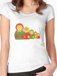 Babushka from Russia  Women's Fitted Scoop T-Shirt