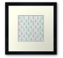 Modern Artistic Abstract Cactus and Triangles Framed Print