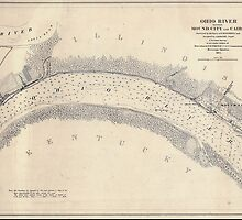 Civil War Maps 1219 Ohio River between Mound City and Cairo by wetdryvac