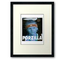 KRISTAPS PORZINGIS (PORZILLA) KNICKS Framed Print