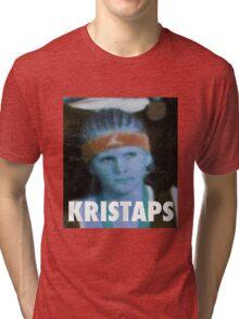 KRISTAPS PORZINGIS (NEW YORK KNICKS) Tri-blend T-Shirt