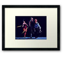 Maggie, Snake, Mr President Framed Print