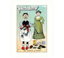 Victorian humour, is marriage a failure Art Print
