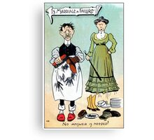 Victorian humour, is marriage a failure Canvas Print