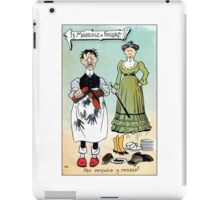 Victorian humour, is marriage a failure iPad Case/Skin