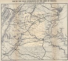 Civil War Maps 0910 Map of the field operations of the Army of Virginia during the months of July and August 1862 by wetdryvac