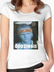 KRISTAPS PORZINGIS (GODZINGIS) KNICKS Women's Fitted Scoop T-Shirt