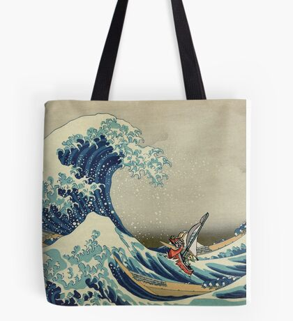 The Great Wave of Hyrule Tote Bag