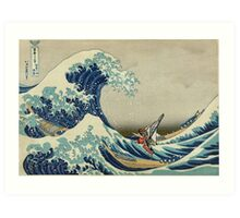 The Great Wave of Hyrule Art Print