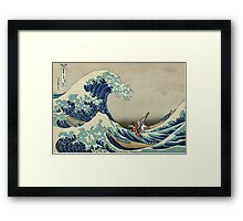 The Great Wave of Hyrule Framed Print