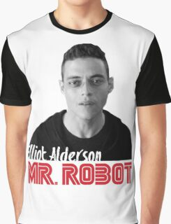 Mr. Robot – Elliot Alderson, Rami Malek Graphic T-Shirt