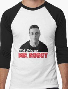Mr. Robot – Elliot Alderson, Rami Malek Men's Baseball ¾ T-Shirt