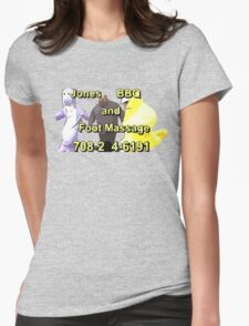 Jones BBQ and Foot Massage Womens Fitted T-Shirt