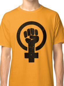 Feminist Raised Fist - Distressed Classic T-Shirt
