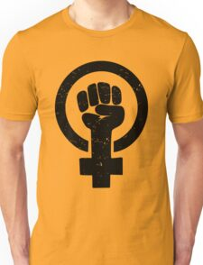 Feminist Raised Fist - Distressed Unisex T-Shirt