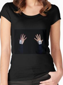ace in sleeve Women's Fitted Scoop T-Shirt