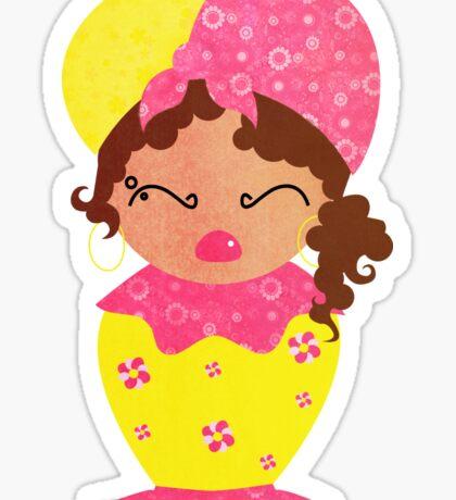 Caribbean doll Sticker