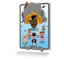 The 6 Little Pigs Greeting Card