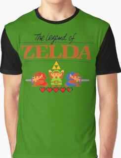 The Legend of Zelda Ocarina of Time 8 bit Graphic T-Shirt