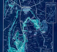 Civil War Maps 0445 Gettysburg and vicinity showing the lines of battle July 1863 Inverted by wetdryvac