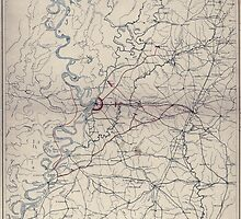 Civil War Maps 0615 Map illustrating the operations of the US forces against Vicksburg by wetdryvac