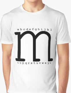 """""""M"""" - The Powerful Letter Graphic T-Shirt"""