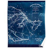 Civil War Maps 0551 Lexington District South Carolina Inverted Poster