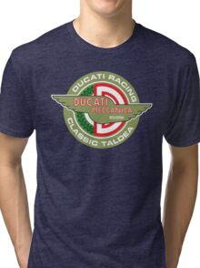 Retro Ducati Racing Tri-blend T-Shirt