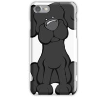 Black Lab - The Dog Table iPhone Case/Skin