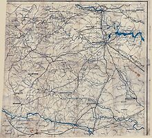 Civil War Maps 2249 South central Virginia showing lines of transportation by wetdryvac