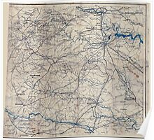 Civil War Maps 2249 South central Virginia showing lines of transportation Poster