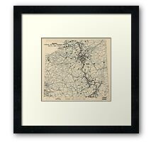 December 3 1944 World War II HQ Twelfth Army Group situation map Framed Print
