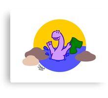 Skinny Diplodocus (image only) Canvas Print