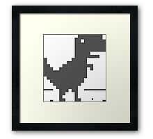 Unable to connect to the internet - Dinosaur Framed Print