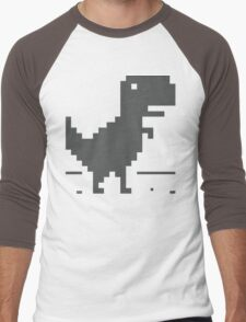 Unable to connect to the internet - Dinosaur Men's Baseball ¾ T-Shirt