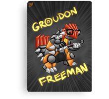 Groudon Freeman Canvas Print