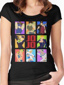 JoJo's Bizarre Adventure - Heroes Women's Fitted Scoop T-Shirt