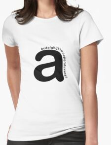 """""""A"""" -At the Beginning Womens Fitted T-Shirt"""