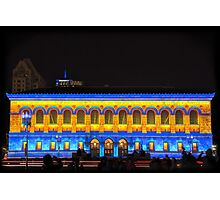 Lights of Blue and Gold Photographic Print