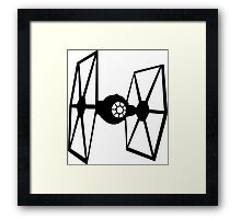 Tie fighter Framed Print