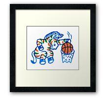 Zebra Dunk  Framed Print