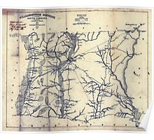 Civil War Maps 1922 Williamsburgh District South Carolina Poster