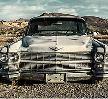 abandoned car near death valley by wulfman65