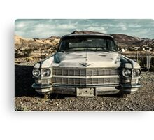 abandoned car near death valley Canvas Print